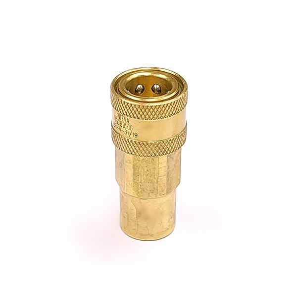 QBNVB-F04 Brass Double Shut Off Coupler 1/4 BSP