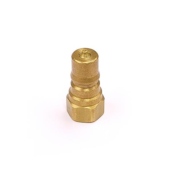QBNVB-M04 Brass Double Shut Off Coupling Plug 1/4 BSP