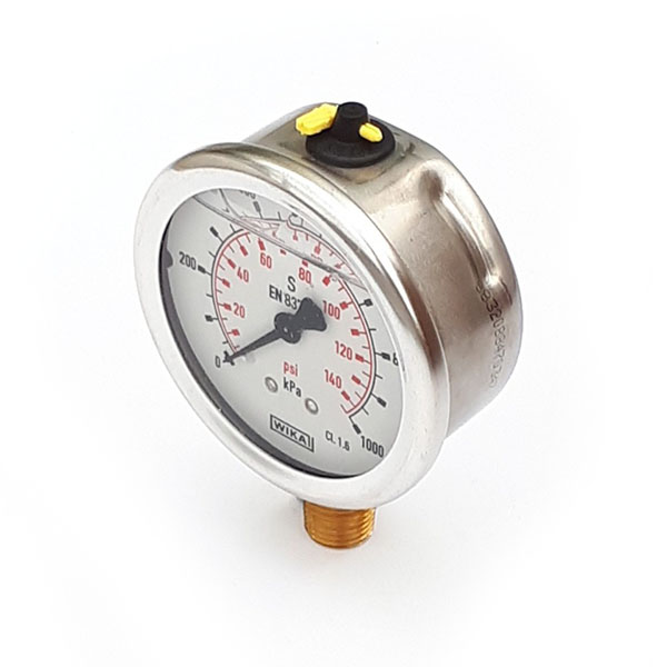 GW63-1-1/4-B-P/K 63mm 100 KPA Pressure Gauge Liquid Filled