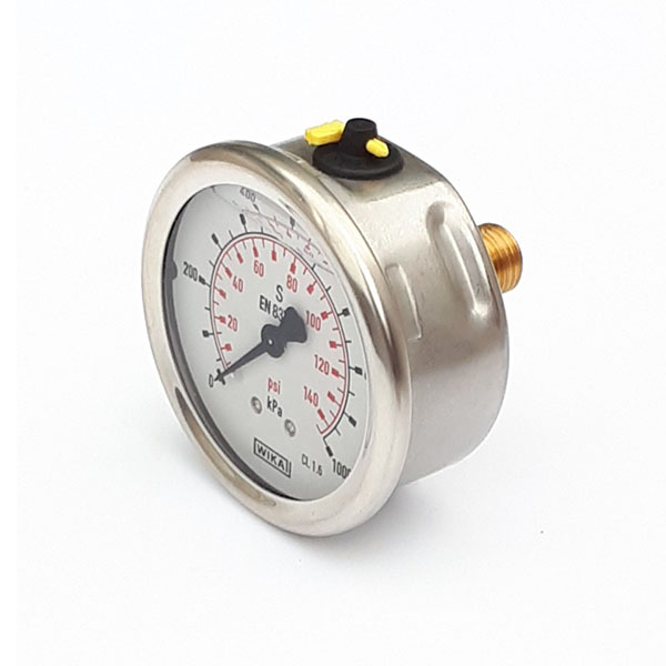 GW63-10-1/4-R-P/K 63mm 1000 KPA Pressure Gauge Liquid Filled