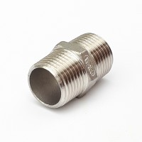 Stainless Hex Nipple