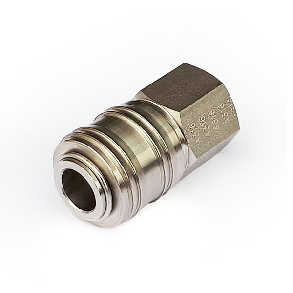 A210-14FSS 1/4 BSP Stainless Steel Coupler (ARO 210 Compatible)